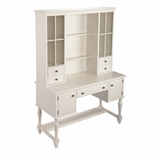 Multi Storage & Spacious Sunbury Desk and Hutch by Southern Enterprises