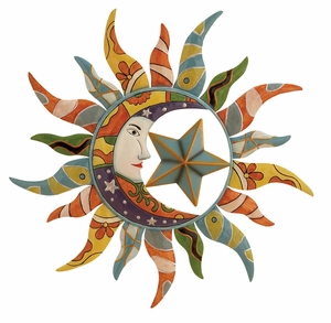 Multicolor Sun Wall Decor