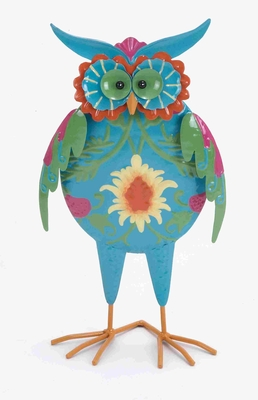 "Multicolored 9"" Owl with 100% Iron Metal for Home Decor Brand Woodland"
