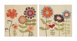 Multicolored Artistic Canvas Art 2 Assorted by Woodland Import