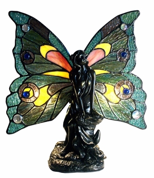 Multicolored Fancy Butterfly Fairy Accent Lamp by Chloe Lighting