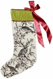 Multicolored Fancy Toile - Black Xmas's Needlepoint Stocking by 123 Creations