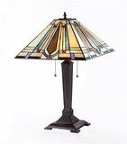 Multicolored Fascinating Tiffany-Styled Mission Table Lamp by Chloe Lighting