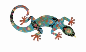 Multicolored Gecko with 100% Iron Metal for Home Decor Brand Woodland