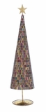 """Multicolored Mosaic Mirror Metal Glass Xmas Tree 31""""H, 8""""W (Large) by Woodland Import"""