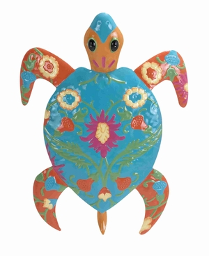 Multicolored Turtle with 100% Iron Metal for Home Decor Brand Woodland