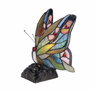 Multihued Fancy Styled Butterfly Accent Lamp by Chloe Lighting