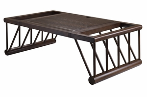 Multipurpose Chocolate Colored Cambridge Lap and Bed Desk by Winsome Woods