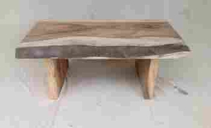 Multipurpose Munggur Hand Crafted Coffee Table made of Solid Teak Brand Woodland