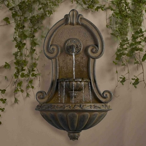 Muro Elegante Copper Finish Wall Fountain for Lasting Use Brand Zest