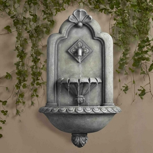 Muro Elegante Stone Finish Wall Fountain with Classic Designs Brand Zest