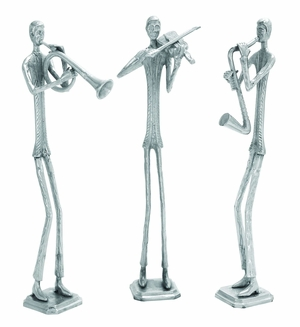 "Musician Aluminum Sculpture - Set of 3 28"" Height"