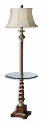 Myron Twist End Table Floor Lamp with Metal Detailing Brand Uttermost