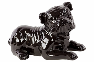 Mysterious looking Ceramic Black Dog by Urban Trends Collection