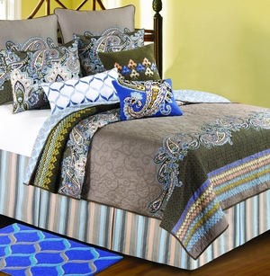 Nadia Oversized Queen Quilt with Cotton Fill Brand C&F