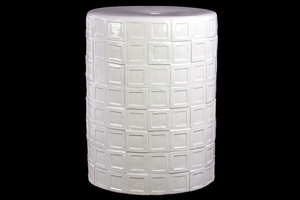 Namibia's Fantastic Unique Ceramic Stool White by Urban Trends Collection