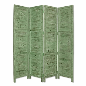 Nantucket Screen Handcrafted with Solid Cedar Wood in Green Brand Screen Gem