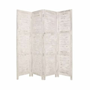 Nantucket Screen Handmade with Solid Cedar Wood in White Brand Screen Gem