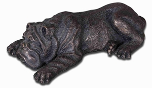 Nap Time Puppy Sculpture With Cast Iron Glaze Brand Uttermost