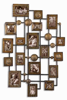 Natane Style Wall Photo Frame With Distressed Hand Forged Metal Brand Uttermost