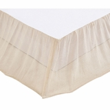 Natural Boucle Twin Bed Skirt 39x76x16 - VHC Brands 27265