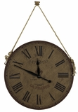 Natural Burlap Finish Attractive Jaybrook Clock by Cooper Classics