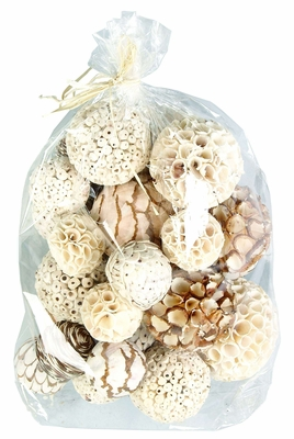 Natural Jungle Flora Decorative Balls - Assortment of 29 Brand Woodland