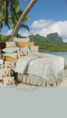 Natural Shells Quilt - 2 Shams Only Brand C&F