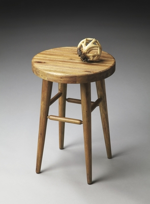 "Natural Wood Stool 14""W by Butler Specialty"
