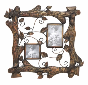 Nature Themed Photo Frame With Log Assembly Brand Woodland