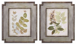 Natures Collage Wooden Floral Frame Art - Set of 2 Brand Uttermost