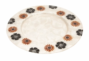 Nautical Capiz Charger Plate Party Accessory, 13 Inch Dia, Floral Set of 12 Brand Woodland