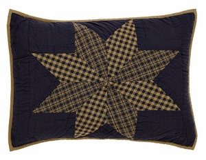 "Navy Star Standard Sham Quilted 21"" x 27"" by VHC Brands"