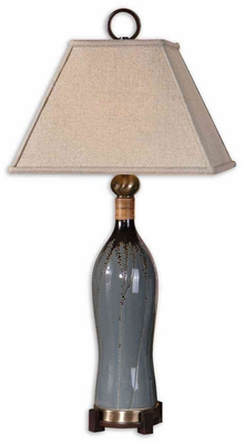 Neela Gray Table Lamp with Split Bamboo Detailing Brand Uttermost