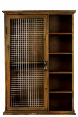 Net Designed Multi Functional Wooden Cabinet