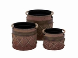 Netherlands Naturally Exotic Planter Set Brand Benzara
