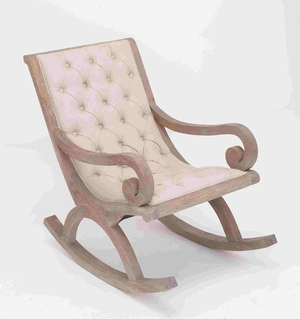 Neuss French Design Vintage Styled Retro Rocker Chair Brand Benzara