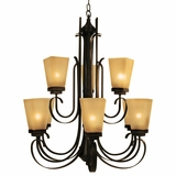 NevadaFalls Collection Enchanting 9 Lights Chandelier in Venetian Bronze by Yosemite Home Decor