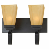 NevadaFalls Collection Fine-looking 2 Lights Vanity Lighting in Venetian Bronze Frame by Yosemite Home Decor