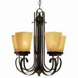 NevadaFalls Collection Outstanding 5 Lights Chandelier in Venetian Bronze by Yosemite Home Decor