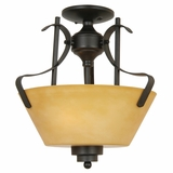 NevadaFalls Lighting Collection Exclusively Styled 3 Light Semi -Flush Mount in Venetian Bronze by Yosemite Home Decor