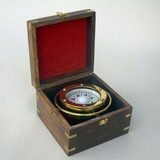 New Gimbaled Compass In Wood Box Nautical Brand IOTC