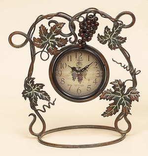 New Merlot Wine Metal Table Desk Clock Brand Woodland