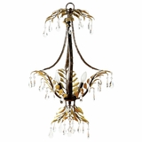 New Plantation Collection Amazingly Styled 3 Light Chandelier without hade in Maple with Oxido High Light by Yosemite Home Decor
