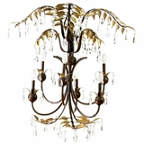 New Plantation Collection Captivating 6 Light Chandelier without hade in Maple with Oxido High Light by Yosemite Home Decor