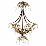 New Plantation Collection Enthralling 3 Light Chandelier without hade in Maple with Oxido High Light by Yosemite Home Decor