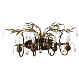 New Plantation Collection Salient 4 Lights Vanity Lighting in Maple with Oxido High Light by Yosemite Home Decor