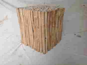 New Square Shaped Wooden Klaten Stool for Contemporary Decor Brand Woodland