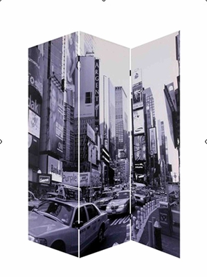 New York City Screen, 3 Panel Canvas 48 Inch L X 72 Inch H Brand Screen Gems