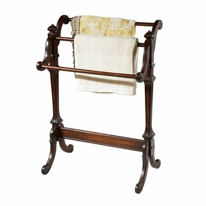 """Newhouse Plantation Cherry Blanket Stand 29.5""""W by Butler Specialty"""
